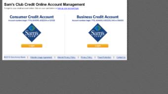Sam's club personal credit login